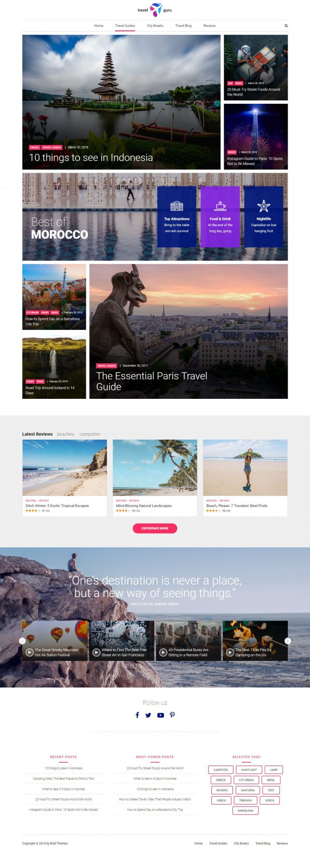newstar wordpress theme travel guides
