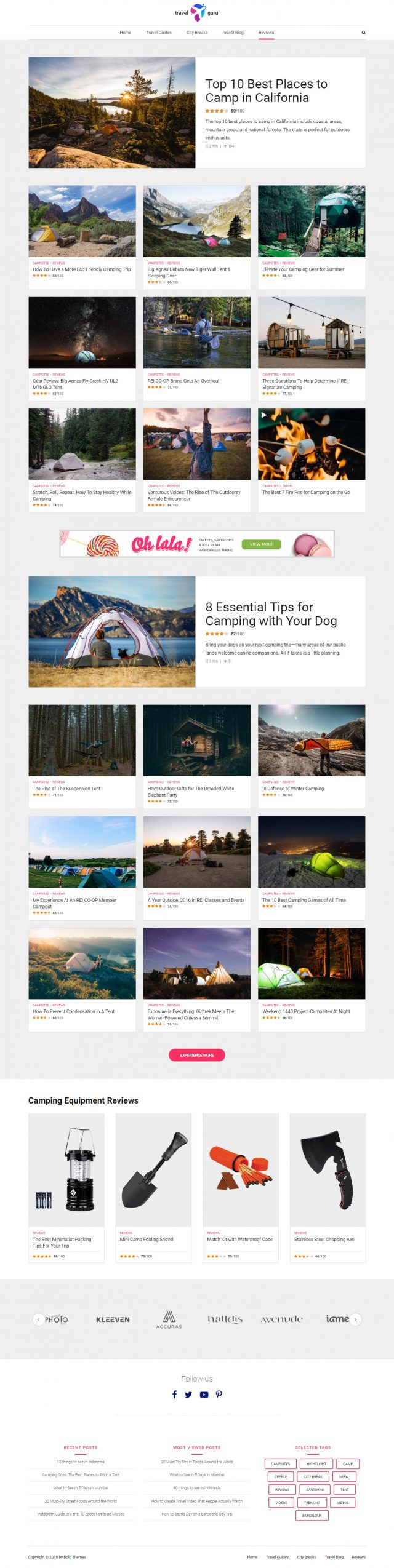 newstar wordpress theme travel reviews page 2