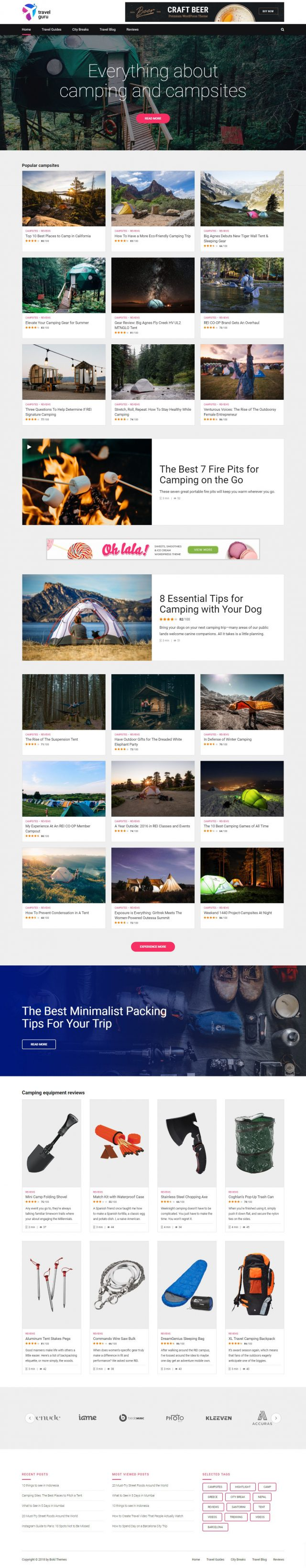 newstar wordpress theme travel reviews page 1