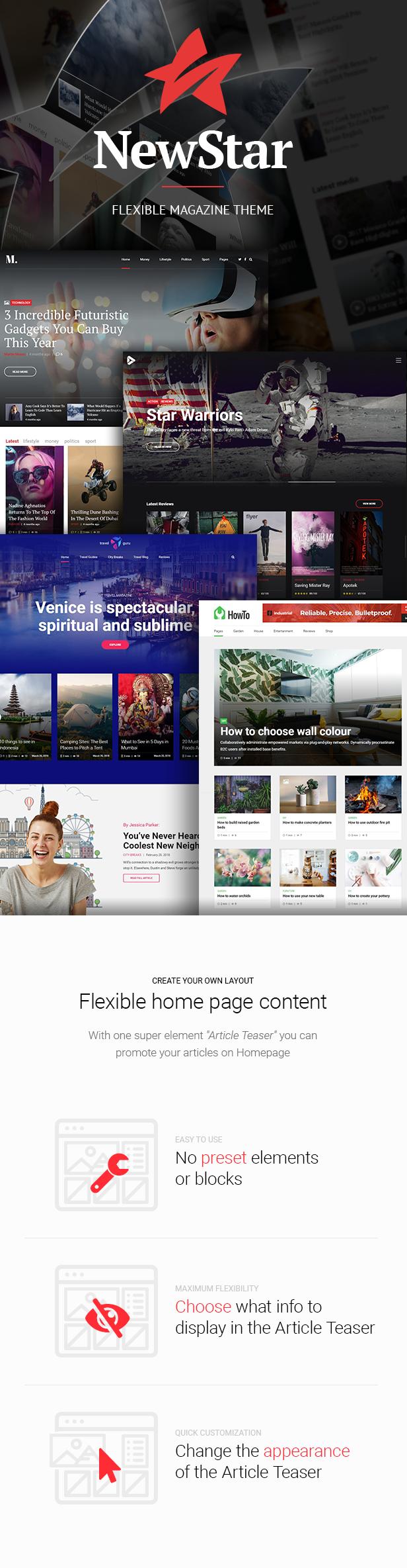 NewStar - Magazine & News WordPress Theme - 1