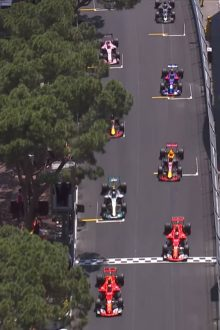 2017 Monaco Grand Prix Race Hightlights