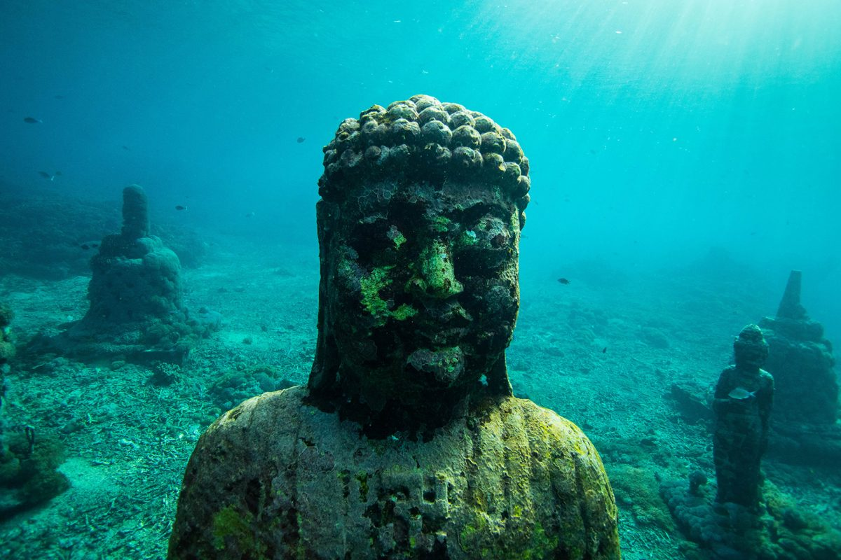 Underwater Hindu Temple in Bali