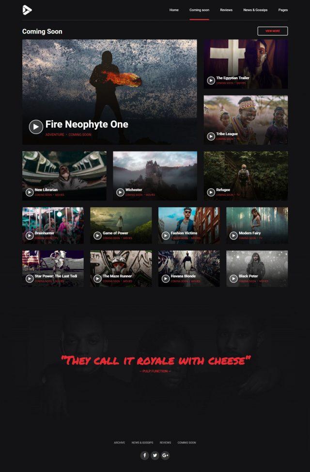 newstar wordpress theme movie reviews coming soon page
